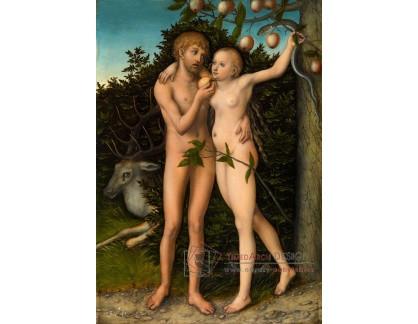 VlCR-168 Lucas Cranach - Adam a Eva v ráji