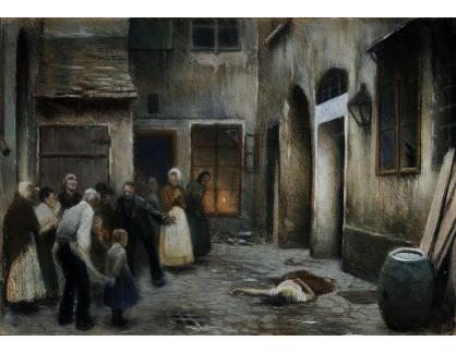 Jakub Schikaneder - Studie vraždy v domě