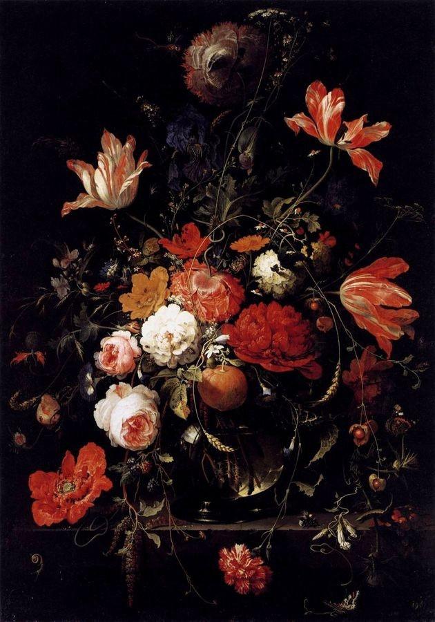 VH563 Abraham Mignon - Zátiší s květinami