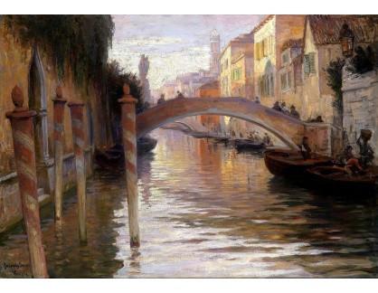 Krásné obrazy I-478 Imre Gergely - Večer v Benátkách