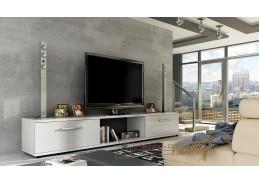 MALLTON, televizní stolek, bílá / bílý lesk