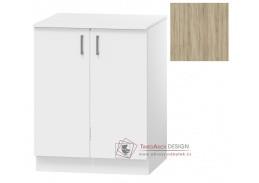 OMAGH, dolní koupelnová skříňka 2-dveřová D70ZPR s PD, dub sonoma