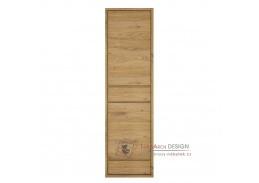 SHELDON 10, skříň policová 2-dveřová, dub shetland