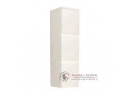 MASON, koupelnová skříňka vysoká, bílá / bílý lesk