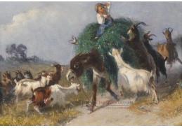 Slavné obrazy X  291 Giuseppe Palizzi - Splašený osel