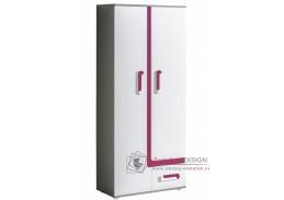 APETTITA 03, policová skříň, antracit / bílá / růžová