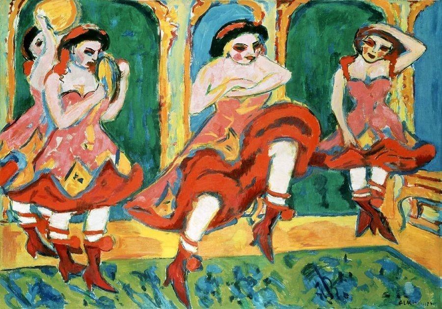 VELK 1 Ernst Ludwig Kirchner - Tanečnice čardáše