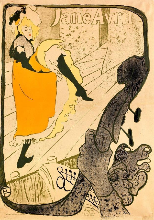 R7-1 Henri Toulose-Lautrec - Jane Avril v Jardin de Paris