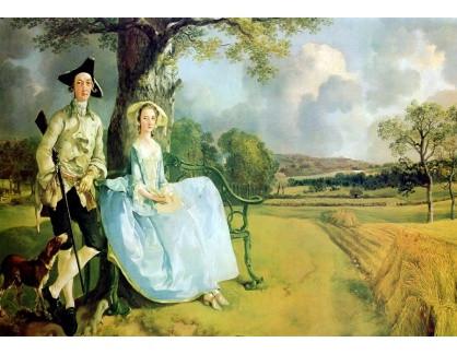 Slavné obrazy IV-532 Thomas Gainsborough - Paní a pán Andrews