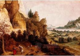 D-9311 Claes van de Heck - Skalnatá krajina s pokušením Krista