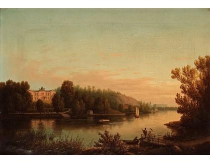 Slavné obrazy III-DDSO-495 Carl Abraham Rothstén - Pohled na palác Rosendal