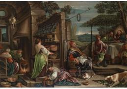 Slavné obrazy VIII-116 Jacopo del Ponte - Večeře v Emauzich