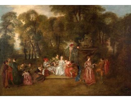 Slavné obrazy XVI-192 Antoine Watteau - Slavnost