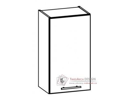 TIFFANY, horní skříňka T3/G40, bílá / bílý lesk