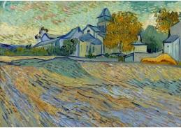 A-12 Vincent van Gogh - Pohled na kostel Saint-Paul-de-Mausole
