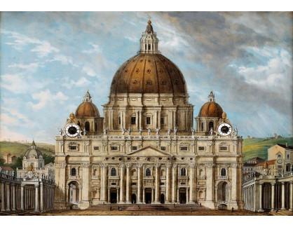 Slavné obrazy III-DDSO-504 Carl Ludwig Hoffmeister - Bazilika svatého Petra