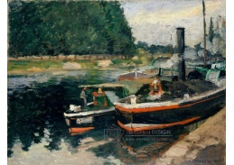 DDSO-2248 Camille Pissarro - Lodě v Pontoise