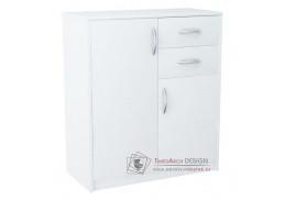 AGNES / HIT 2D2S, komoda 2-dveřová se 2-mi zásuvkami, bílá