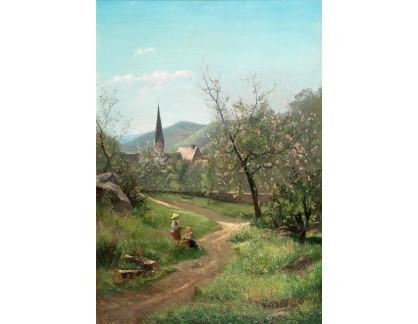 Slavné obrazy I-DDSO-261 Leopold Munsch - Kvetoucí meruňky