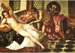 Slavné obrazy V-113 Jacopo Tintoretto - Vulcano, Venuše a Mars