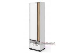 VENIDI 03, policová skříň 1-dveřová, bílá / světle šedá / grafit / salisbury