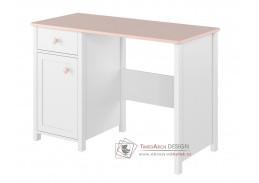 POLONA 03, pracovní stůl, bílá / růžová