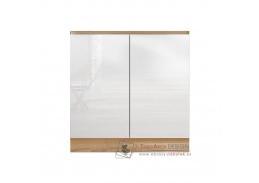 LINE, dolní skříňka 2-dveřová pod dřez D80ZL, dub sonoma / bílý lesk