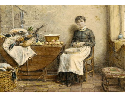 VANG303 George Goodwin Kilburne - Okrajování jablek