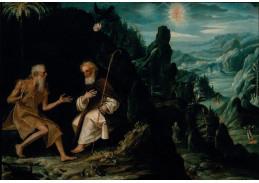 Slavné obrazy XI-87 Baltasar de Echave Ibia - Poustevníci