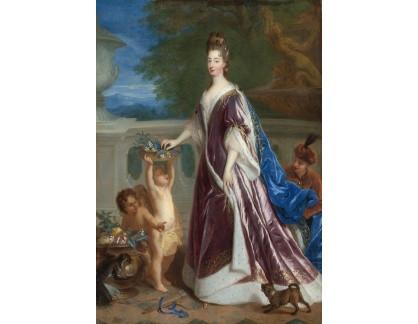 Slavné obrazy XVII-115 Francois de Troy - Portrét Elisabeth-Charlotte de Baviere