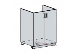VALERIA, dolní skříňka 2-dveřová pod dřez 60DZ, bílá / white stripe