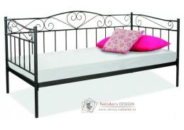 BIRMA, kovová postel 90x200cm, černá