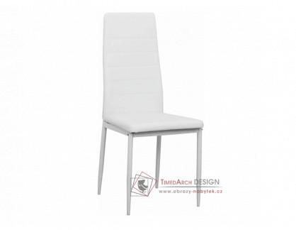 COLETA NOVA, jídelní židle, bílá / ekokůže bílá