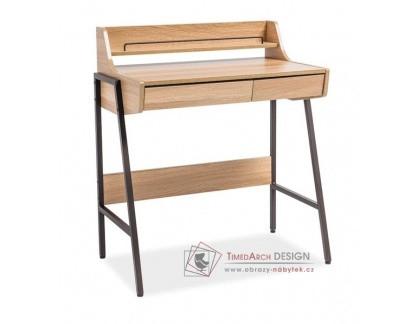 B-168, pracovní stůl, černá / dub