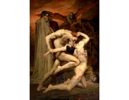 R15-53 Adolph William Bouguereau - Dante a Virgil v pekle