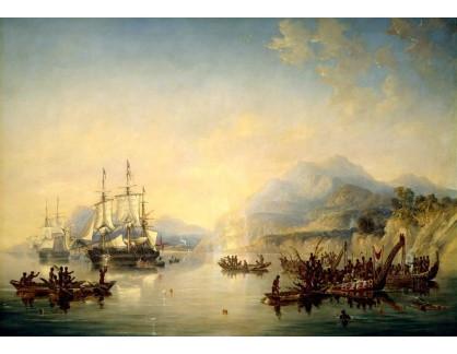 VANG187 John Wilson Carmichael - Lodě Erebus a Teror na Novém Zélandu v srpnu 1841