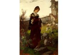 XV-77 Alexander von Liezen Mayer - Dívka na hřbitově