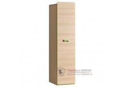 EGO L02, policová skříň, jasan / zelená