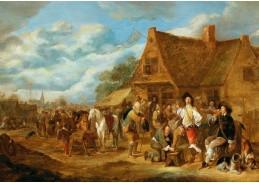 DDSO-3555 Hendrick Potuyl - Rolníci a vojáci před krčmou