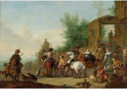 D-5942 Karel van Falens - Odjezd sokolníků na lov