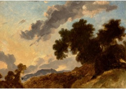 D-7336 Jean Honoré Fragonard - Horská krajina při západu slunce