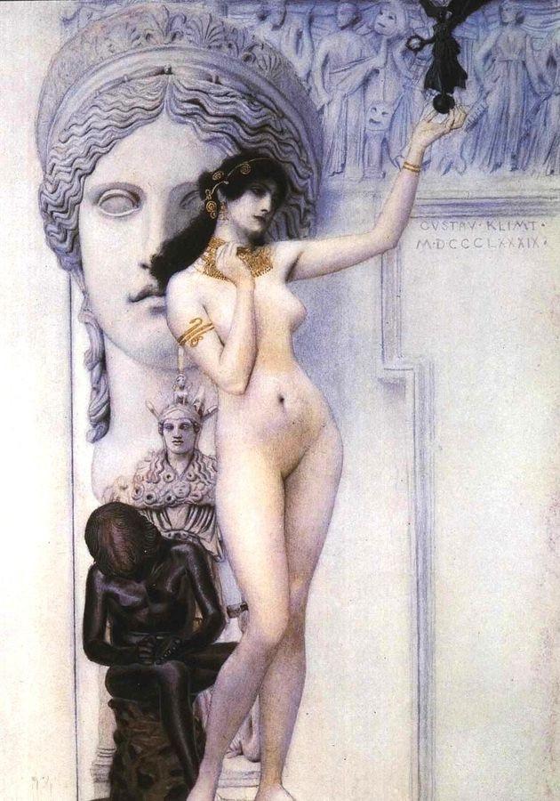 R3-12 Gustav Klimt - Alegorie sochařství