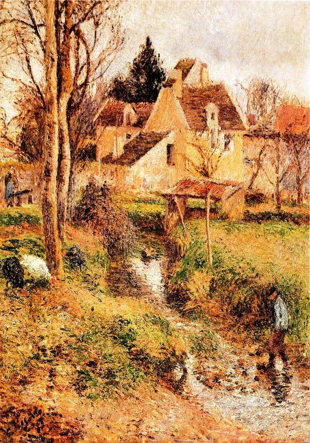 Obraz VCP-482 Camille Pissarro - Potok v Osny