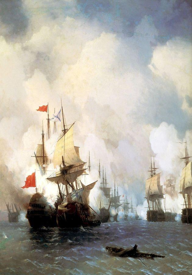 VL107 Ivan Aivazovsky - Bitva o průliv Chios