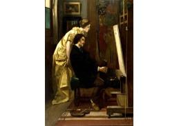 XV-91 Alfred Stevens - Malíř a jeho model