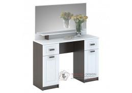PRAGA CT-900, toaletní stolek se zrcadlem, wenge / bílá