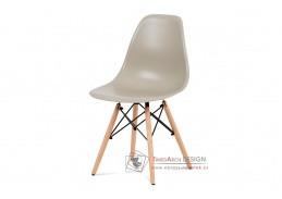 CT-758 LAT, jídelní židle, buk / plast latté