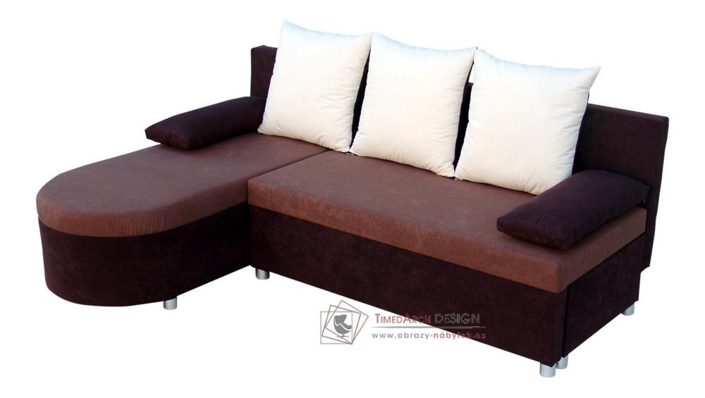 Rohová rozkládací sedací souprava s úložným prostorem KASIA I