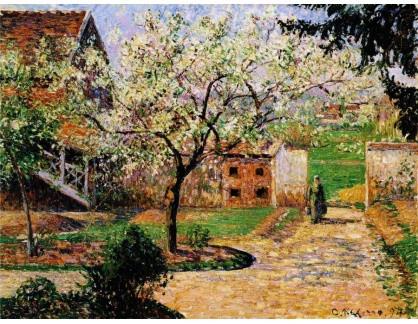 VCP-350 Camille Pissarro - Kvetoucí švestky v Eragny