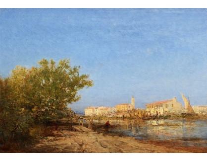 Slavné obrazy III-DDSO-579 Felix Ziem - V benátské laguně